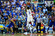 November 24 2015: UCLA Bruins Aaron Holiday shoots a three pointer during the Maui Invitational at  Lahaina Civic Center on Maui, HI. (Photo by Aric Becker)