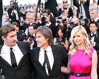 Garret Hedlund, Walter Salles, Kirsten Dunst  at the On The Road gala screening red carpet at the 65th Cannes Film Festival France. The film is based on the book of the same name by beat writer Jack Kerouak and directed by Walter Salles. Wednesday 23rd May 2012 in Cannes Film Festival, France.