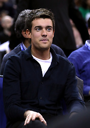 Jack Whitehall in the crowd during the NBA London Game 2018 at the O2 Arena, London. PRESS ASSOCIATION Photo. Picture date: Thursday January 11, 2018. See PA story BASKETBALL London. Photo credit should read: Simon Cooper/PA Wire. RESTRICTIONS: Editorial use only, No commercial use without prior permission