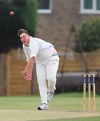 WELLINGBOROUGH BOWLER PETER WHITMORE, Wellingborough Town CC v Finedon 3rds CC, Redwell Road Ground,  Saturday 20th August 2016<br /> Photo:Mike Capps