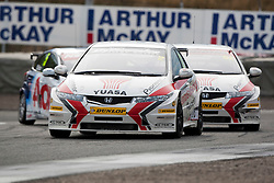 Car 2 - Matt Neal..British Touring Car Championship at Knockhill, Sunday 4th September 2011. .© pic Michael Schofield.