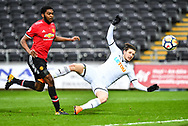 Adnan Maric of Swansea City scores his sides second goal - Mandatory by-line: Craig Thomas/Replay images - 18/03/2018 - FOOTBALL - Liberty Stadium - Swansea, England - Swansea City U23 v Manchester United U23 - Premier League 2 - Divison 1