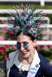 Racegoer Janet Larose, from New York, during day two of Royal Ascot at Ascot Racecourse.