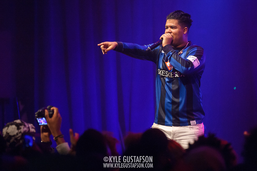 """WASHINGTON, DC - May 2, 2015 - ILoveMakonnen performs at the Howard Theatre in Washington, D.C. His 2014 EP ILoveMakonnen featured the single """"Club Goin' Up on a Tuesday"""", which was later remixed by Drake to great acclaim. (Photo by Kyle Gustafson / For The Washington Post)"""