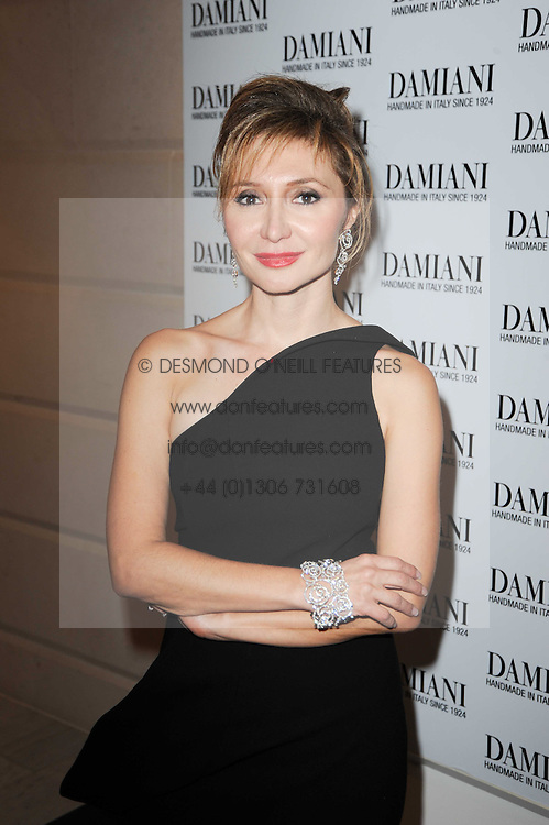 SILVIA DAMIANI at a dinner hosted by jewellers Damiani at The Connaught Hotel, London on 3rd February 2010.