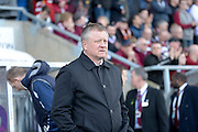 Northampton Town Manager Chris Wilder  during the Sky Bet League 2 match between Northampton Town and Newport County at Sixfields Stadium, Northampton, England on 25 March 2016. Photo by Dennis Goodwin.