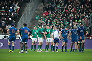Sebastien Vahaamahina (FRA) made a sporting mistake and gave the penalty to Irland, Guilhem Guirado (FRA), Jonathan Sexton (IRL), Conor Murray (IRL) with the ball in hand during the NatWest 6 Nations 2018 rugby union match between France and Ireland on February 3, 2018 at Stade de France in Saint-Denis, France - Photo Stephane Allaman / ProSportsImages / DPPI