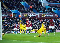 BIRMINGHAM, ENGLAND - Saturday, January 17, 2015: Liverpool's Fabio Borini scores the first goal against Aston Villa during the Premier League match at Villa Park. (Pic by David Rawcliffe/Propaganda)