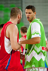 Bostjan Nachbar of Slovenia during friendly basketball match between National teams of Slovenia and Serbia of Adecco Ex-Yu Cup 2012 as part of exhibition games 2012, on August 5, 2012, in Arena Stozice, Ljubljana, Slovenia. (Photo by Urban Urbanc / Sportida)