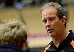 19-12-2015 DEN: World Championships Handball 2015 Training Oranje, Herning<br /> Na een rustige training werd er een persmoment gehouden / Bondscoach Henk Groener