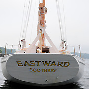 "Eastward is for sale. .Gray & Gray in York, Maine is handling the sale.  ..email them at: graygray@gwi.net.Toll-free 877-239-9212.Tel (207) 363-7997.Cell 603-498-3450.Fax (207) 363-7807...Stats: .Built: 1956, wooden, James Chadwick from Murray Peterson design..32' on deck, 27' at the waterline and 40' overall.Beam: 10' 7"".Draws: 5' 4"".With Topmast, height above waterline is 55 feet..Approximate gross weight : 7 tons. .  .Engine:  28HP Beta Marine Diesel installed 2009 - It moves her about 5.5 knots in low seas.  ..In 1998, her keel had major repair done by Ralph Stanley in Southwest Harbor and in 2009 her stern was reconstructed at Paul E. Luke Inc in East Boothbay. ..She's currently owned by Robert C. Duncan of Concord, Mass and maintained by Luke's Boatyard with indoor winter storage. For more information call Robert Duncan at 978-369-2593. .."