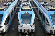 Nederland, Arnhem 2-1-2013Rangeerterrein in Arnhem waar treinen staan van Syntus, Arriva en Breng.Foto: Flip Franssen/Hollandse Hoogte