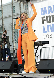 MARCH FOR OUR LIVES, protesting gun violence in schools - Los Angeles. 24 Mar 2018 Pictured: Rita Ora. Photo credit: MEGA TheMegaAgency.com +1 888 505 6342