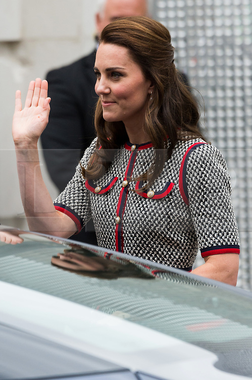 © Licensed to London News Pictures. 29/06/2017. London, UK. The Duchess of Cambridge leaves the V&A Exhibition Road Quarter's new spaces including The Sackler Courtyard, The Blavatnik Hall and The Sainsbury Gallery after a tour. Photo credit: Ray Tang/LNP