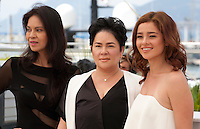 Actress Maria Isabel Lopez,  Jaclyn Jose and Andi Eigenmann at the Ma'rosa film photo call at the 69th Cannes Film Festival Wednesday 18th May 2016, Cannes, France. Photography: Doreen Kennedy
