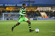 Forest Green Rovers Dale Bennett(6) on the ball during the FA Trophy 2nd round match between Chester FC and Forest Green Rovers at the Deva Stadium, Chester, United Kingdom on 14 January 2017. Photo by Shane Healey.