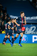 Julian Draxler (PSG) scored a goal, celebration, Marco Verratti (PSG), Thomas Meunier (PSG) during the French Championship Ligue 1 football match between Paris Saint-Germain and AS Saint-Etienne on September 14, 2018 at Parc des Princes stadium in Paris, France - Photo Stephane Allaman / ProSportsImages / DPPI