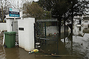 Flooded home for sale in Wraysbury near Staines. Flood waters remain high after last weeks flooding across the Thames valley. UK<br /> <br /> Picture by Zute Lightfoot