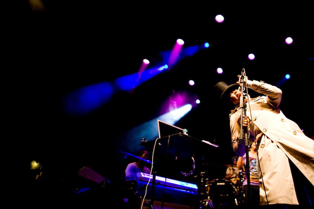 Nice (Cimiez), France. July 21st 2009. .Erykah Badu performs at the Nice Jazz Festival.