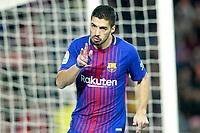 FC Barcelona's Luis Suarez celebrates goal during La Liga match. December 17,2016. (ALTERPHOTOS/Acero)