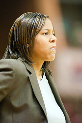 26 November 2005: Huskie 1st year Head Coach Carol Owens. The Illinois State Redbirds were triumphant over the Northern Illinois Huskies 60 - 50 at the final buzzer.  The game was played at Redbird Arena on the campus of Illinois State University in Normal IL