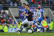 Derby County midfielder George Thorne (34) during the Sky Bet Championship match between Brighton and Hove Albion and Derby County at the American Express Community Stadium, Brighton and Hove, England on 2 May 2016. Photo by Phil Duncan.