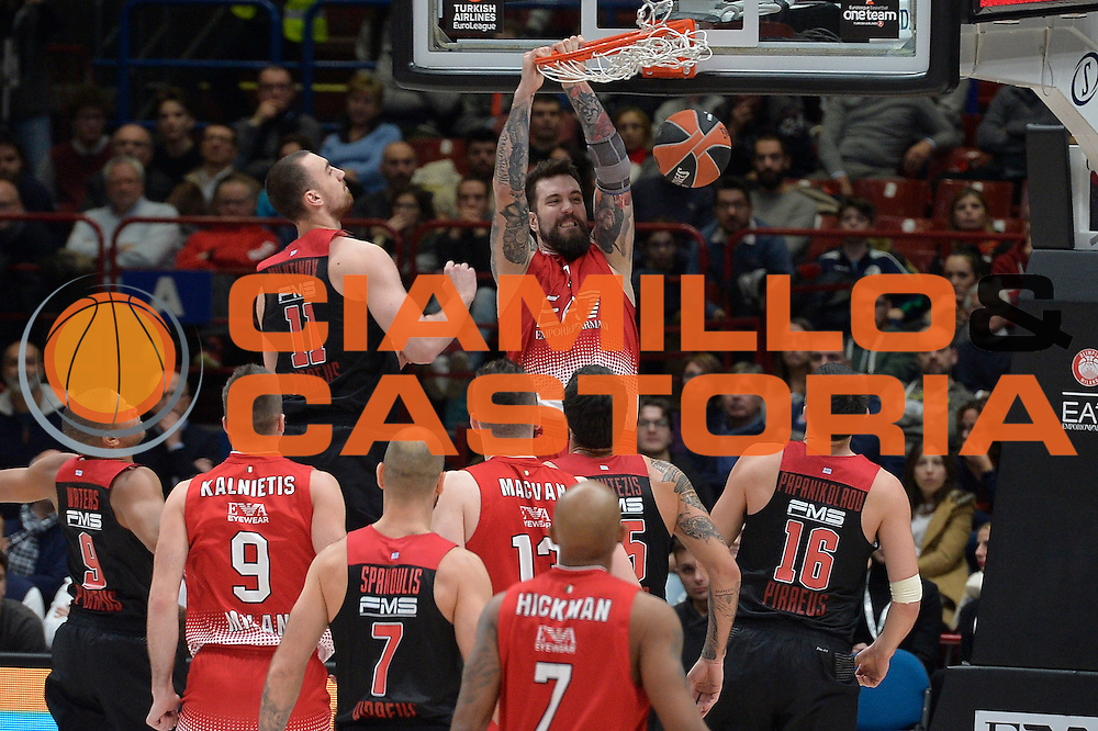 Raduljica Miroslav<br /> EA7 Emporio Armani Olimpia Milano - Olympiacos Piraeus<br /> Euroleague 2016/2017<br /> Milano 25/01/2017<br /> Foto Ciamillo-Castoria