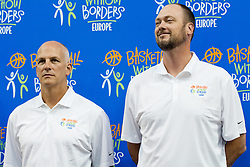 Jay Triano, Toronto Raptors Special Assistant to the President and GM and Joe Wolf, Milwaukee Bucks Assistant Coach, at Basketball Without Borders Europe for prospects under 17 with best coaches and some NBA legends on August 8, 2011, in Hala Tivoli, Ljubljana, Slovenia. (Photo by Matic Klansek Velej / Sportida)