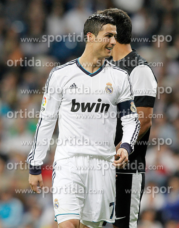 08.05.2013, Estadio Santiago Bernabeu, Madrid, ESP, Primera Division, Real Madrid vs FC Malaga, 36. Runde, im Bild Real Madrid's Cristiano Ronaldo // during the Spanish Primera Division 36th round match between Real Madrid CF and Malaga FC at the Estadio Santiago Bernabeu, Madrid, Spain on 2013/05/08. EXPA Pictures © 2013, PhotoCredit: EXPA/ Alterphotos/ Acero..***** ATTENTION - OUT OF ESP and SUI *****