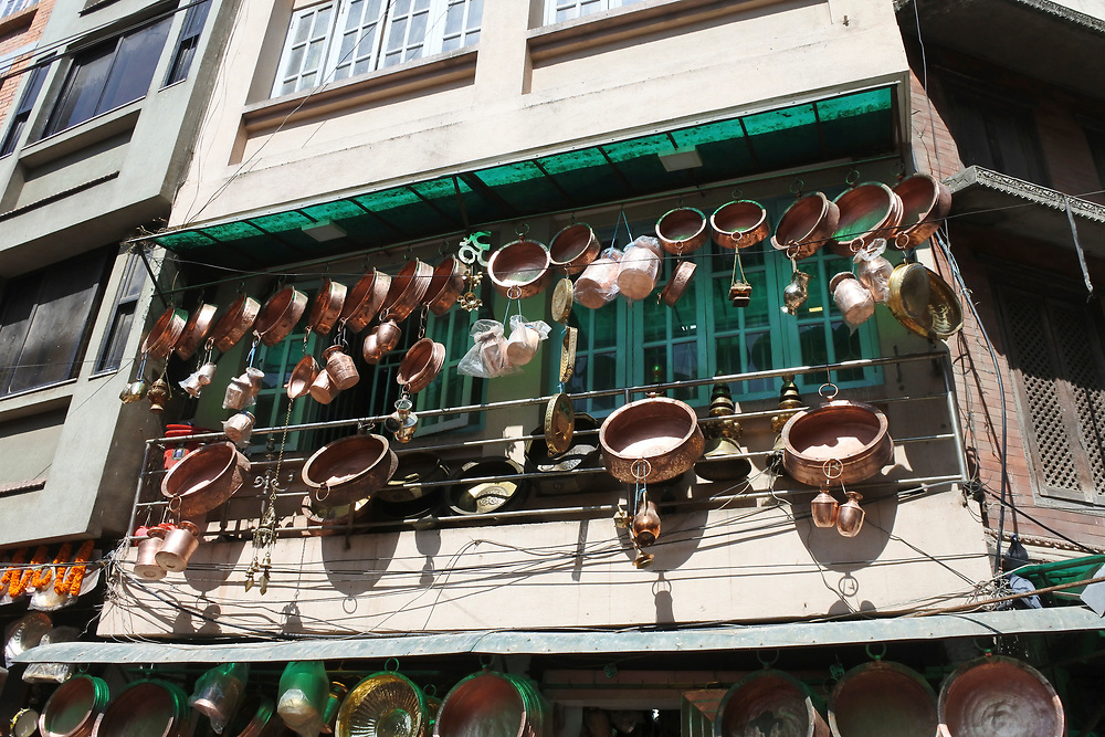 Pots and pans for sale in Kathmandu, Nepal