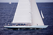 Gaia sailing in the Butterfly Race at the 2011 Antigua Classic Yacht Regatta.