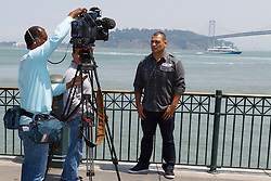 SAN FRANCISCO, CA - JULY 29: Cain Velasquez is interviewed during a UFC press tour event on July 29, 2013 in San Francisco, California.  (Photo by Jason O. Watson/Zuffa LLC/Zuffa LLC via Getty Images) *** Local Caption *** Cain Velasquez