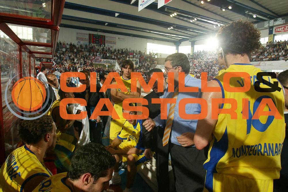 DESCRIZIONE : Porto San Giorgio Lega A2 2005-06 Play Off Finale Gara 4 Premiata Montegranaro Noi Sport Monte Terminillo Rieti <br />GIOCATORE : Timeout<br />SQUADRA : Premiata Montegranaro <br />EVENTO : Campionato Lega A2 2005-2006 Play Off Finale Gara 4 <br />GARA : Premiata Montegranaro Noi Sport Monte Terminillo Rieti <br />DATA : 04/06/2006 <br />CATEGORIA : Timeout<br />SPORT : Pallacanestro <br />AUTORE : Agenzia Ciamillo-Castoria/M.Marchi