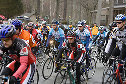 Start of the Men's C field.<br /> <br /> The College of William and Mary road race was held near Williamsburg, VA on February 25, 2007.