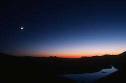 Spirit Lake at Dusk from Windy Ridge, Mt. St. Helens National Volcanic Monument, Washington, US