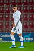 Anargyros Kampetsis (#9) of Greece U21 during the U21 UEFA EUROPEAN CHAMPIONSHIPS match between U21 Scotland and U21 Greece at Tynecastle Park, Edinburgh, Scotland on 15 November 2019.
