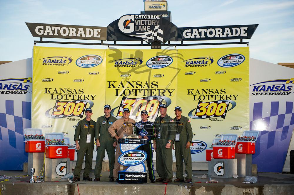 Kansas City, KS - OCT 20, 2012:  Ricky Stenhouse, Jr. (6) wins the Kansas Lottery 300 at Kansas Speedway in Kansas City, KS.