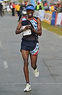 PORT ELIZABETH, SOUTH AFRICA - JULY 30: Stephen Mokoka of AGN during the SA Half Marathon Championships on July 30, 2016 in Port Elizabeth, South Africa. (Photo by Roger Sedres/Gallo Images)