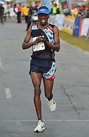 PORT ELIZABETH, SOUTH AFRICA - JULY 30: Stephen Mokoka of AGN during the SA Half Marathon Championships on July 30, 2016 in Port Elizabeth, South Africa. (Photo by Roger Sedres/Gallo Images)