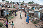 A local village in Kibera slum, Kenya