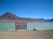 bolivian and chilian border close the the atacama desert