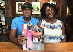 Parents of Usain Bolt pictured interview with Valerie Hardie of HLN - 10 Aug 2017