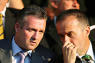 London - Tuesday, August 18th, 2009: New Norwich City manager Paul Lambert in the stands before the game between Brentford and Norwich City during the Coca Cola League One match at Griffin Park, London. (Pic by Chris Ratcliffe/Focus Images)