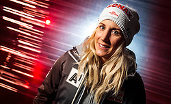 09.10.2016, Intersport Bründl, Kaprun, AUT, Marcel Hirscher im Portrait, im Bild die Österreichische Skirennläuferin und Riesenslalomweltcup Gesamtsiegerin Eva Maria Brem während eines exklusiven Fotoshootings // Austrian alpine skier and giant slalom World Cup overall winner Eva-Maria Brem during an exclusive photo shoot at the Intersport Bründl Flagship Store, Kaprun Austria on 2016/10/09. EXPA Pictures © 2016, PhotoCredit: EXPA/ JFK