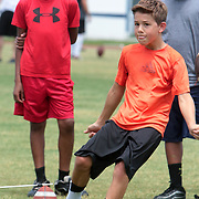 Casey and Connor Barth held a kicking clinic Sunday July 13, 2014 at Hoggard High School in Wilmington, N.C. (Jason A. Frizzelle)