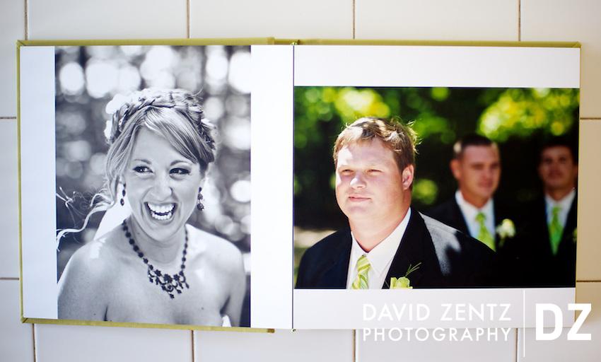 Heidi and Seth's finished book. ©David Zentz Photography 2010