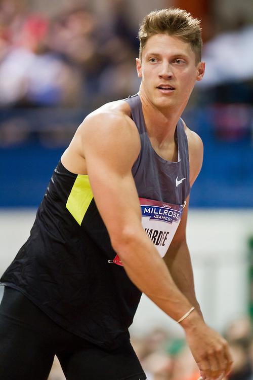 Millrose Games indoor track and field: men's 60 meter hurdles, Trey Hardee, Nike