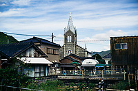 A small church in the middle of a fishing village in Amakusa, Japan.