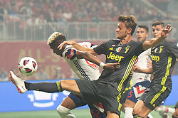 August 1, 2018 - Atlanta, Georgia, United States - MLS All-Star defender MICHAEL AMIR MURILLO, 62 (New York Red Bulls) fights to defend against Juventus forward STEFANO BELTRAME, 41 during the 2018 MLS All-Star Game at Mercedes-Benz Stadium in Atlanta, Georgia.  Juventus F.C. defeats  MLS All-Stars defeat  1 to 1  (Credit Image: © Mark Smith via ZUMA Wire)