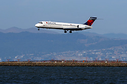 Boeing 717-2BD (N961AT) operated by Delta Air Lines landing at San Francisco International Airport (KSFO), San Francisco, California, United States of America